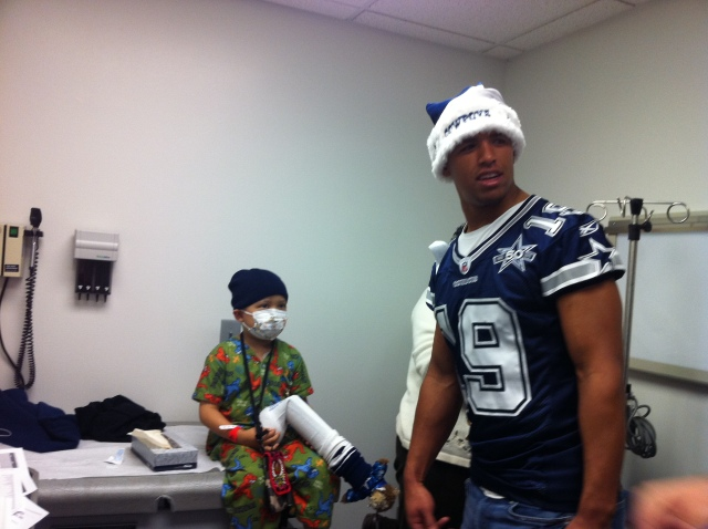 Jude meeting the Dallas Cowboys. December 2010