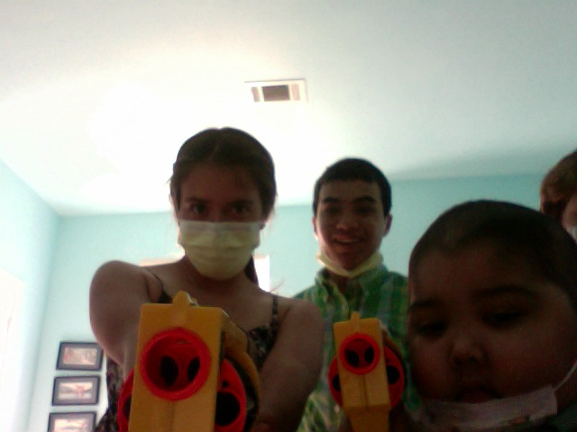 A-, me, and Jude playing Nerf Guns. May 26, 2011.