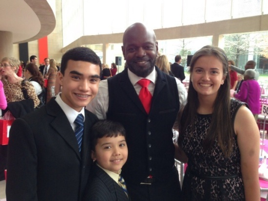 At the end, we also got to meet Emmitt Smith, a retired football player who played for the Dallas Cowboys until 2002.