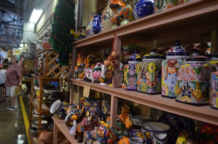 A variety of Mexican pottery.