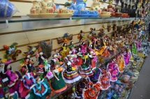 A variety of Mexican figurines.