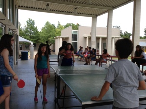 Our usual ping pong tournaments. The kids in English class were better than the rest of us in Spanish class.