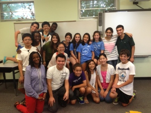 A group photo of the English and Spanish class at the end of my third week.