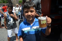 Jude loves his Butterbeer!