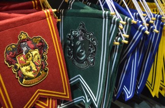 The Hogwarts House emblems